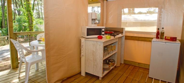 Tente Ecolodge pour vacances naturistes
