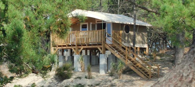 Tente Lodge Panorama camping naturiste